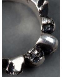 Werkstatt:münchen - Gray Skull Ring for Men - Lyst