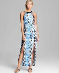 MINKPINK Blue Garden Breeze Maxi Dress Swim Cover Up