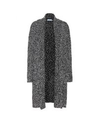 Vince Black Cotton And Wool-blend Cardigan