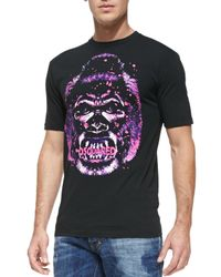 DSquared² Purple Apeprint Logo T-Shirt for men