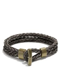 COACH Metallic Philip Crangi Double Braid Toggle Bracelet for men