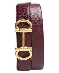 Ferragamo | Purple 'parigi' Reversible Leather Belt for Men | Lyst