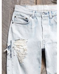 Free People - Blue Vintage Destroyed Levis Jeans - Lyst