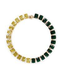 Eddie Borgo - Multicolor Two Tone Rectangle Estate Cubic Zirconia Necklace - Lyst