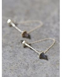 Free People | Metallic Monroe Chain Studs | Lyst