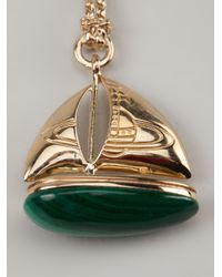 Vivienne Westwood - Green Aristotle Boat Pendant - Lyst