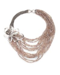 Alexis Bittar - Metallic Marquis Crystal Magnolia Multistrand Necklace - Lyst