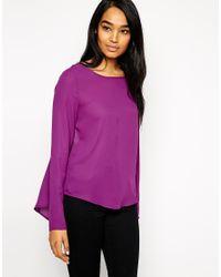 Vero Moda Purple Blouse With Open Back