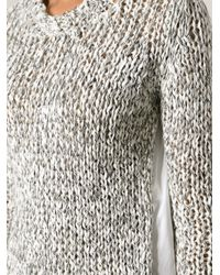 Dondup | Gray Chunky Knit Sweater | Lyst