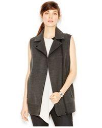 RACHEL Rachel Roy | Gray Moto Vest | Lyst