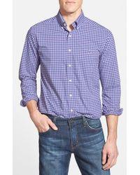 Vineyard Vines | Purple 'bradey - Tucker Performance' Slim Fit Gingham Sport Shirt for Men | Lyst