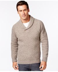 Barbour | Brown Bransfield Shawl-collar Sweater for Men | Lyst