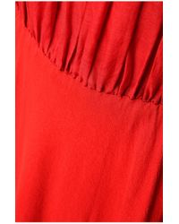 BOSS Orange - Red 'egioie' | Cotton Silk Pleated Midi Dress - Lyst