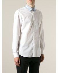 Ferragamo - White Contrast Collar Shirt for Men - Lyst