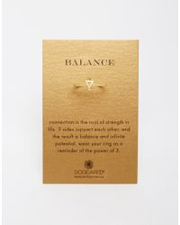 Dogeared | Metallic Gold Plated Balance Small Triangle Ring | Lyst