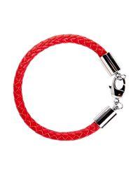 Simon Carter | Red Leather Bracelet for Men | Lyst