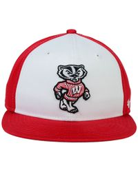 47 Brand | Red Kids' Wisconsin Badgers Snapback Cap | Lyst