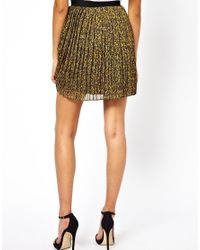 Beloved - Green Natasha Pleated Skirt - Lyst