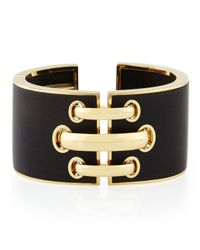 David Webb | Black 18k Gold Ebony Shoelace Cuff Bracelet | Lyst