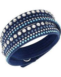 Swarovski | Blue Slake Rock Bracelet | Lyst