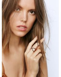 Free People - Black Amorium Womens Double Crossed Ring - Lyst