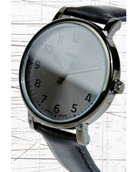 Timex Black Originals Easy Reader Watch In Leather for men
