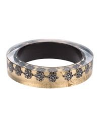 Nicholas King - Natural Oxi Flower Bangle - Lyst