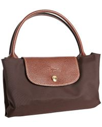Longchamp | Brown Chocolate Nylon Le Pliage Medium Folding Tote | Lyst