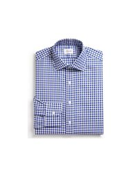 Hamilton Blue Exploded Gingham Check Oxford Dress Shirt - Classic Fit - Bloomingdale's Exclusive for men