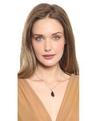 Alexis Bittar Metallic Infinity Drop Pendant Necklace Blackrose Gold