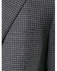 Canali - Gray Checked Blazer for Men - Lyst