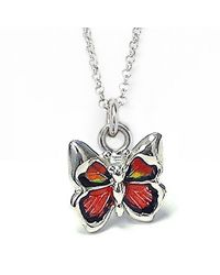 Jan Leslie | Red Butterfly Pendant / Charm Necklace | Lyst