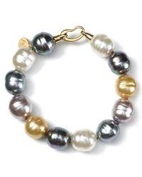 Majorica Multicolor Multi Pearl Bracelet 14mm