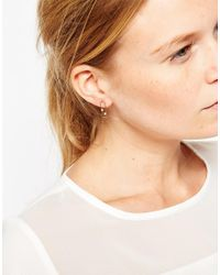 ASOS | Metallic Limited Edition Open Rectangle Earrings | Lyst