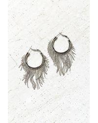 Urban Outfitters | Metallic Dusk Til Dawn Fringe Hoop Earring | Lyst
