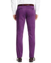 BOSS - Purple 'sharp' | Regular Fit, Stretch Cotton Dress Pants for Men - Lyst