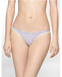 Calvin Klein | Purple Underwear Bottoms Up Thong | Lyst