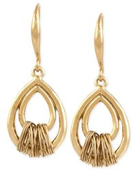 Robert Lee Morris | Metallic Bronze-tone Wire-wrapped Teardrop Earrings | Lyst