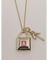 Patrizia Pepe | Metallic Costume Jewelry Necklace With Enamel | Lyst