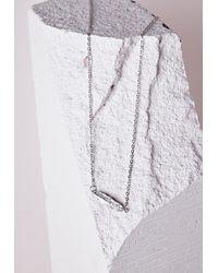 Missguided   Metallic Leaf Charm Body Chain Silver   Lyst