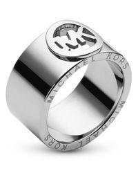 Michael Kors | Metallic Fulton Logo Ring | Lyst