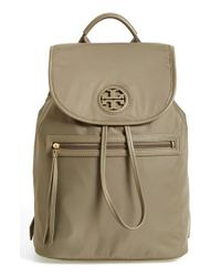 Tory Burch | Brown Nylon Backpack | Lyst