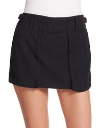 Free People | Black Mini Utility Skort | Lyst