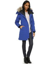 Canada Goose - Blue Shelburne Quilted Down-filled Parka Jacket  - Lyst