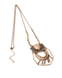 Forever 21 | Metallic Etched Pendant Necklace You've Been Added To The Waitlist | Lyst