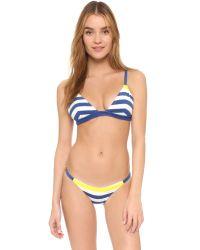 Solid & Striped - Blue Morgan Bikini Bottoms - Lyst