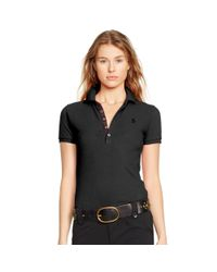 Polo Ralph Lauren - Black Skinny Stretch Polo Shirt - Lyst