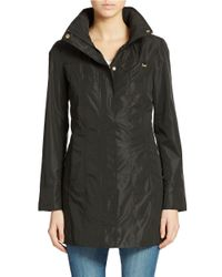 Ellen Tracy | Black Petite Packable Rain Jacket | Lyst