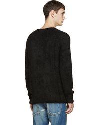 Visvim Black Alpaca Highland Sweater for men