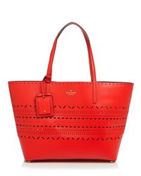 kate spade new york - Red Tote - Lillian Court Medium Harmony - Lyst